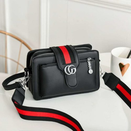 JTF6868-black Tas Selempang Fashion Modis Import Terbaru