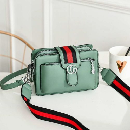 JTF6868-green Tas Selempang Fashion Modis Import Terbaru