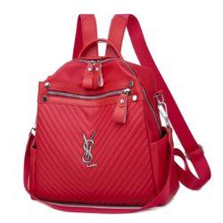 JTF7127-red Tas Ransel Stylish Wanita Cantik Terbaru Import