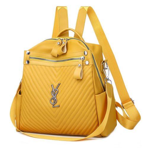 JTF7127-yellow Tas Ransel Stylish Wanita Cantik Terbaru Import