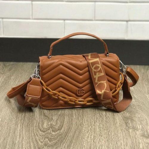 JTF7241-brown Tas Handbag Selempang Pesta Wanita Cantik Elegan