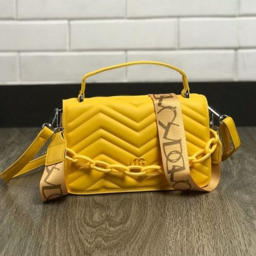 JTF7241-yellow Tas Handbag Selempang Pesta Wanita Cantik Elegan