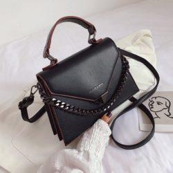 JTF7242-black Tas Handbag Selempang Wanita Cantik Elegan Import