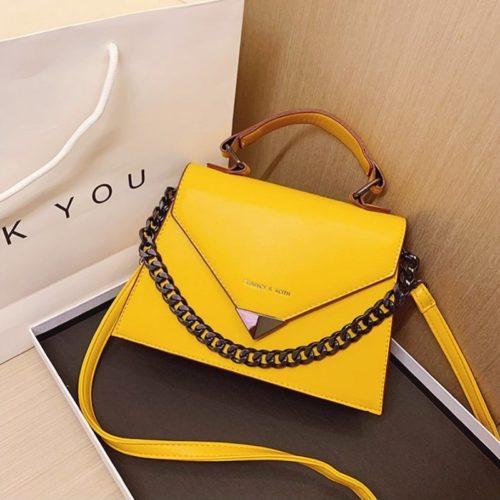 JTF7242-yellow Tas Handbag Selempang Wanita Cantik Elegan Import