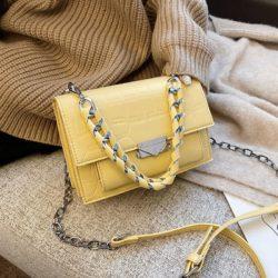 JTF7243-yellow Tas Selempang Croco Wanita Cantik Import Terbaru