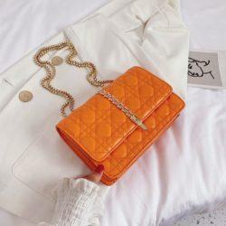 JTF7244-orange Tas Selempang Clutch Wanita Cantik Import
