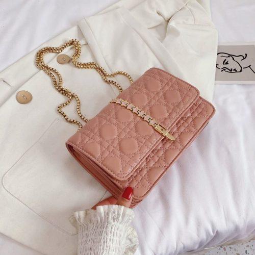 JTF7244-pink Tas Selempang Clutch Wanita Cantik Import