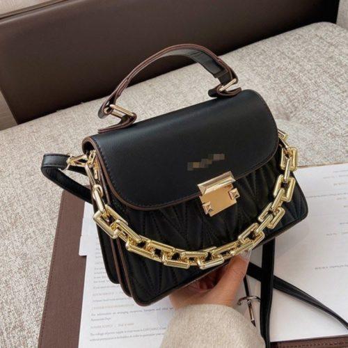JTF7571-black Tas Handbag Selempang Wanita Cantik Import