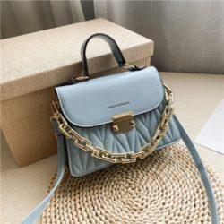 JTF7571-blue Tas Handbag Selempang Wanita Cantik Import