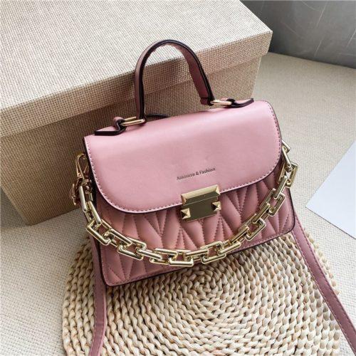 JTF7571-pink Tas Handbag Selempang Wanita Cantik Import