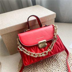 JTF7571-red Tas Handbag Selempang Wanita Cantik Import