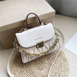 JTF7571-white Tas Handbag Selempang Wanita Cantik Import