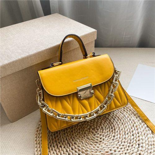 JTF7571-yellow Tas Handbag Selempang Wanita Cantik Import