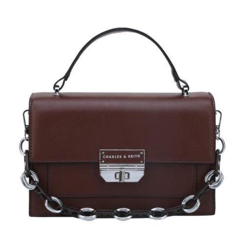 JTF7589-coffee Tas Handbag Selempang Pesta Wanita Elegan Import