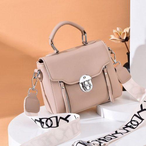 JTF7641-khaki Tas Selempang Fashion Wanita Cantik Import Terbaru