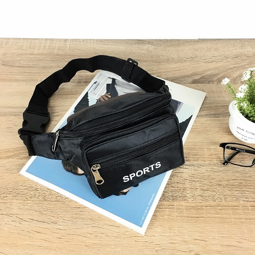 JTF7708-black Tas Waistbag Keren Import