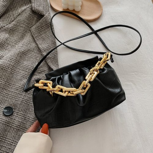 JTF77417-black Tas Selempang Model Chain Import Wanita Cantik