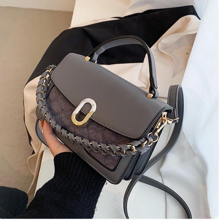 JTF77802 IDR.76.000 MATERIAL PU SIZE L20XH14XW8CM WEIGHT 450GR COLOR GRAY