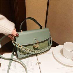 JTF77802-green Tas Handbag Selempang Wanita Cantik Import Terbaru