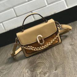 JTF77802-khaki Tas Handbag Selempang Wanita Cantik Import Terbaru