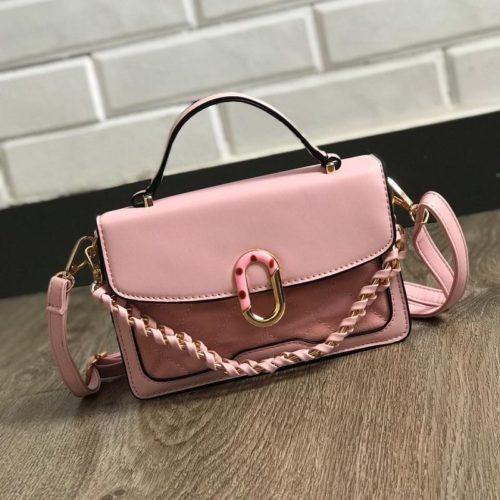 JTF77802-pink Tas Handbag Selempang Wanita Cantik Import Terbaru
