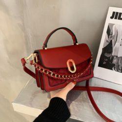 JTF77802-red Tas Handbag Selempang Wanita Cantik Import Terbaru