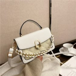 JTF77802-white Tas Handbag Selempang Wanita Cantik Import Terbaru