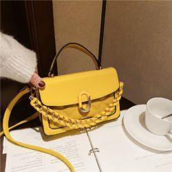 JTF77802-yellow Tas Handbag Selempang Wanita Cantik Import Terbaru
