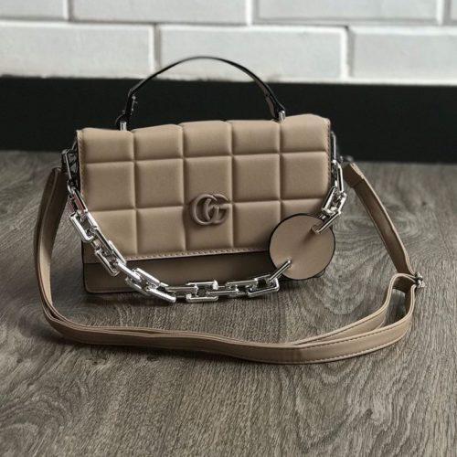 JTF77803-khaki Tas Handbag Selempang Wanita Cantik Terbaru