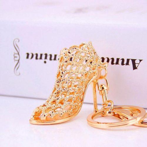 JTF792-goldshoes Gantungan Kunci Elegan Mewah Import