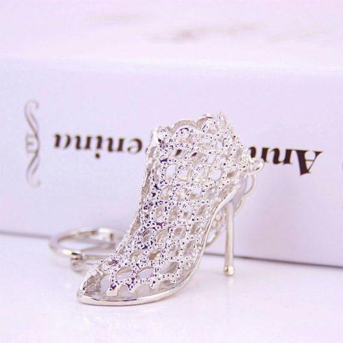 JTF792-silvershoes Gantungan Kunci Elegan Mewah Import