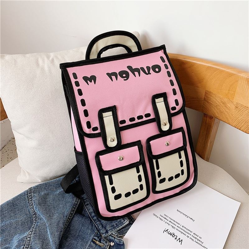 JTF800922 IDR.60.000 MATERIAL CANVAS SIZE L30XH39XW11CM WEIGHT 650GR COLOR PINK