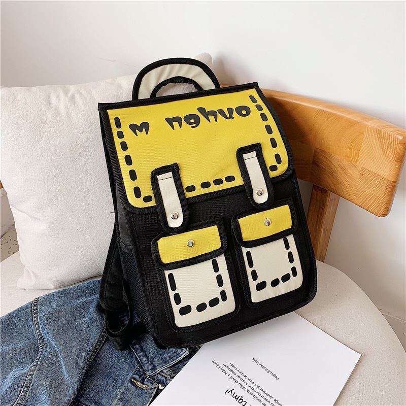JTF800922 IDR.60.000 MATERIAL CANVAS SIZE L30XH39XW11CM WEIGHT 650GR COLOR YELLOW