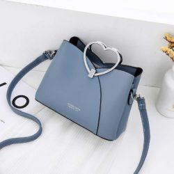 JTF8071-blue Tas Selempang Gagang Love Wanita Cantik Import
