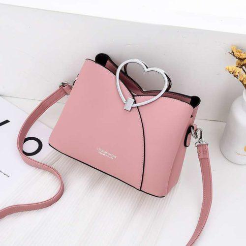 JTF8071-pink Tas Selempang Gagang Love Wanita Cantik Import