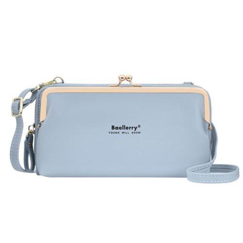 JTF8102-blue Dompet Selempang BAELLERRY Wanita Cantik Terbaru