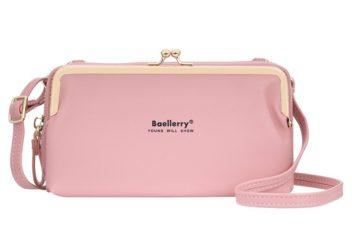 JTF8102-lightpink Dompet Selempang BAELLERRY Wanita Cantik Terbaru