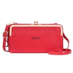 JTF8102-red Dompet Selempang BAELLERRY Wanita Cantik Terbaru