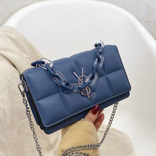 JTF8132-blue Tas Selempang Fashion Import Wanita Cantik