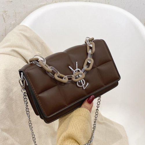 JTF8132-coffee Tas Selempang Fashion Import Wanita Cantik
