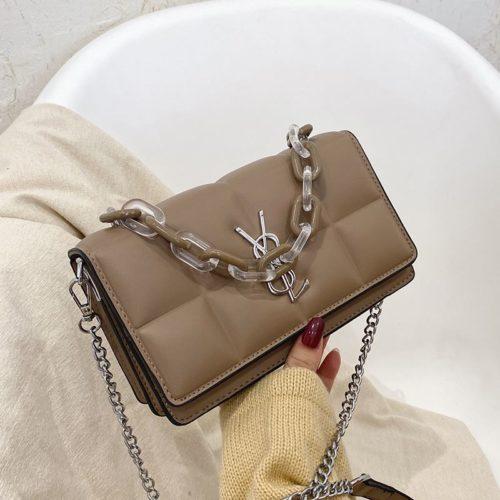 JTF8132-khaki Tas Selempang Fashion Import Wanita Cantik