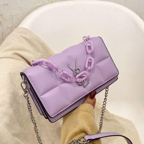 JTF8132-purple Tas Selempang Fashion Import Wanita Cantik