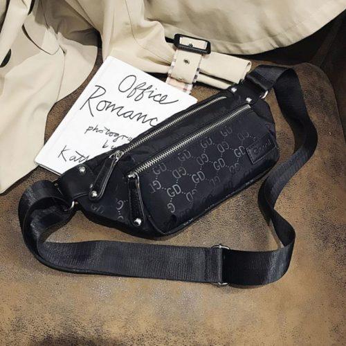 JTF81333-black Waist Bag GD Wanita Cantik Import Terbaru