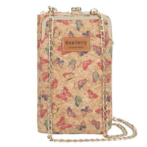 JTF8595-butterfly Dompet Handphone BALLERRY Tali Rantai Selempang