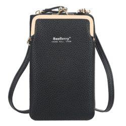 JTF86012-black Tas Dompet Selempang Handphone BAELLERRY Terbaru