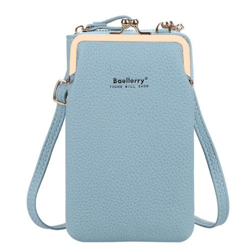 JTF86012-blue Tas Dompet Selempang Handphone BAELLERRY Terbaru
