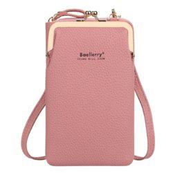 JTF86012-darkpink Tas Dompet Selempang Handphone BAELLERRY Terbaru