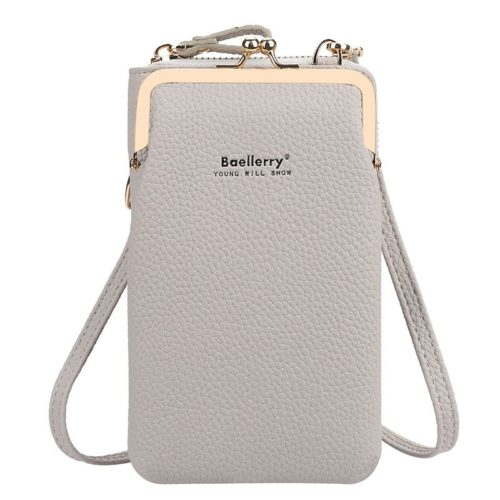 JTF86012-gray Tas Dompet Selempang Handphone BAELLERRY Terbaru