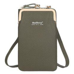 JTF86012-green Tas Dompet Selempang Handphone BAELLERRY Terbaru