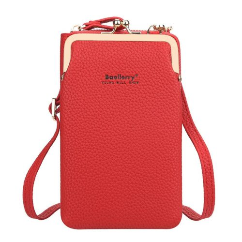 JTF86012-red Tas Dompet Selempang Handphone BAELLERRY Terbaru